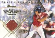 2001 Bowman Draft Futures Game Relics #FGRCU Chase Utley