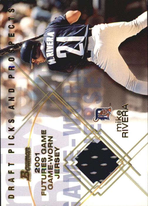2001 Bowman Draft Futures Game Relics #FGRMR Mike Rivera