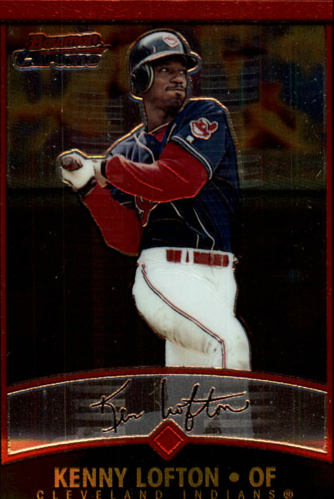 2001 Bowman Chrome #4 Kenny Lofton
