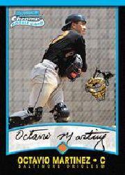 2001 Bowman Chrome #155 Octavio Martinez RC
