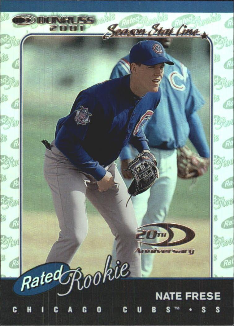 2001 Donruss Stat Line Season #163 Nate Frese RR/126