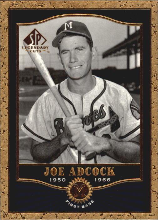 2001 SP Legendary Cuts #8 Joe Adcock