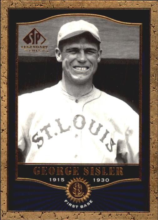 2001 SP Legendary Cuts #10 George Sisler