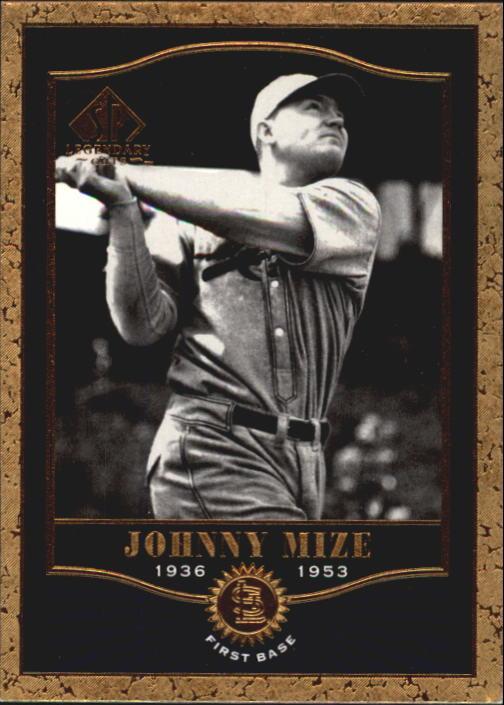 2001 SP Legendary Cuts #15 Johnny Mize