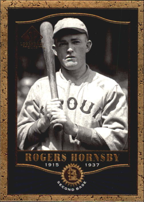 2001 SP Legendary Cuts #17 Rogers Hornsby