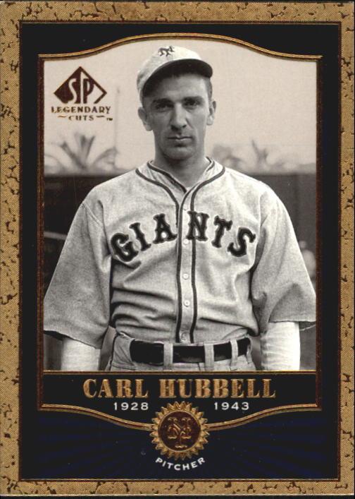 2001 SP Legendary Cuts #38 Carl Hubbell