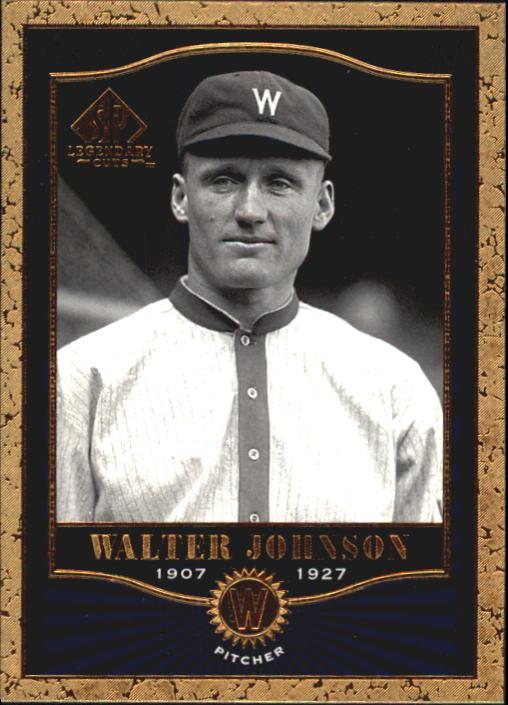 2001 SP Legendary Cuts #69 Walter Johnson