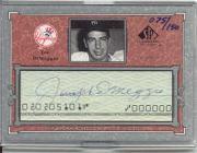 2001 SP Legendary Cuts Autographs #CJD3 Joe DiMaggio/150