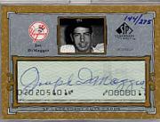 2001 SP Legendary Cuts Autographs #CJD4 Joe DiMaggio/275