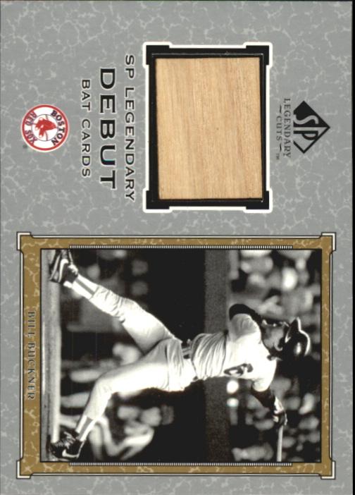 2001 SP Legendary Cuts Debut Game Bat #DBB Bill Buckner *