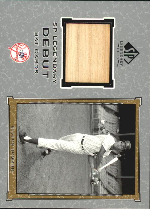 2001 SP Legendary Cuts Debut Game Bat #DEH Elston Howard SP
