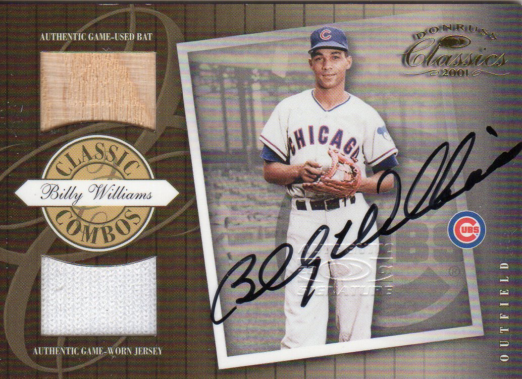 2001 Donruss Classics Combos Autograph #CC18 Billy Williams/15