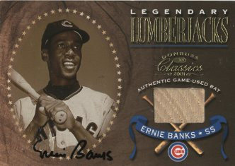2001 Donruss Classics Legendary Lumberjacks Autographs #LL9 Ernie Banks