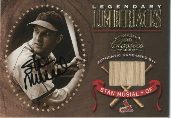 2001 Donruss Classics Legendary Lumberjacks Autographs #LL34 Stan Musial