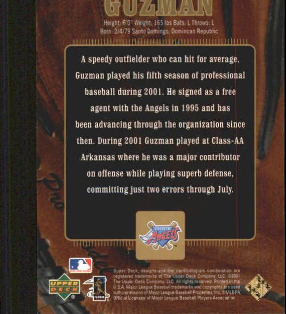 2001 Upper Deck Gold Glove #107 Elpidio Guzman GD RC back image