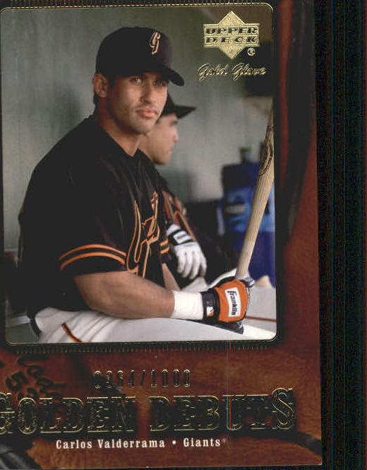 2001 Upper Deck Gold Glove #122 Carlos Valderrama GD RC