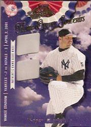 2001 Absolute Memorabilia Home Opener Souvenirs Double #OD31 Roger Clemens