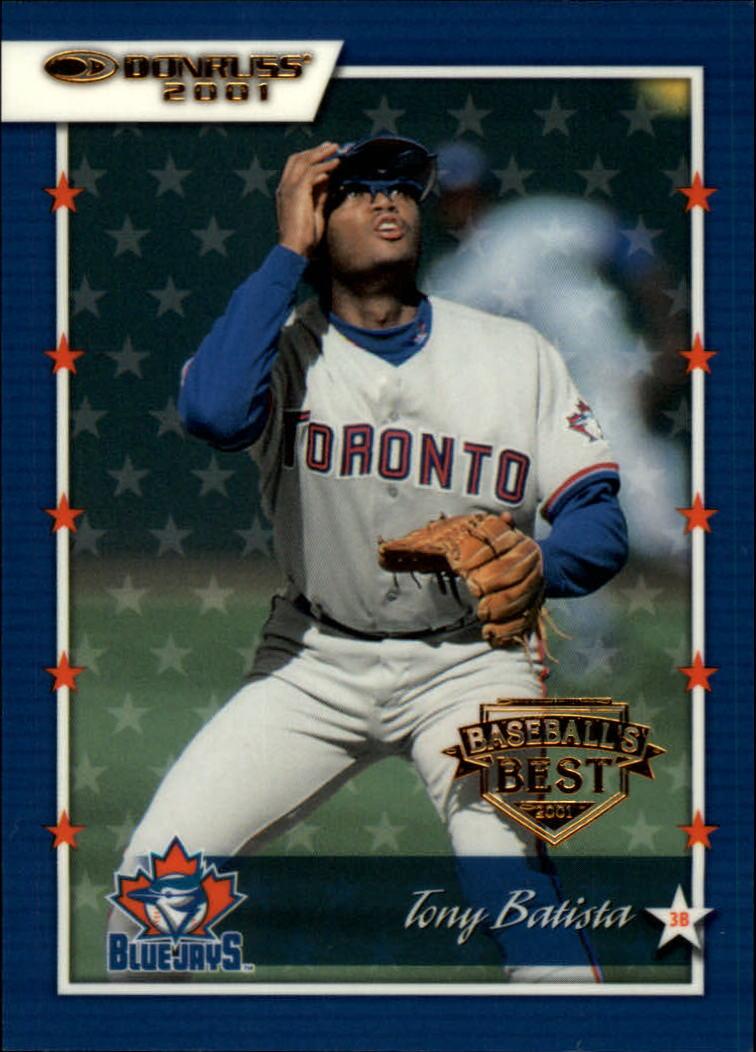 2001 Donruss Baseball's Best Bronze #69 Tony Batista
