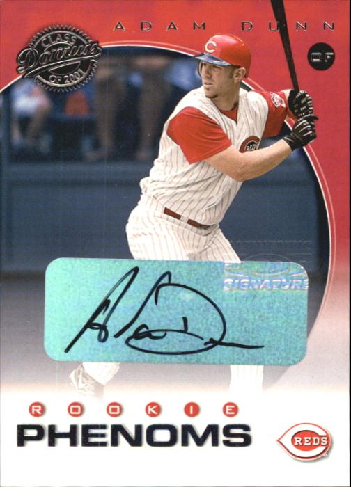 2001 Donruss Class of 2001 Rookie Autographs #244 Adam Dunn PH/100