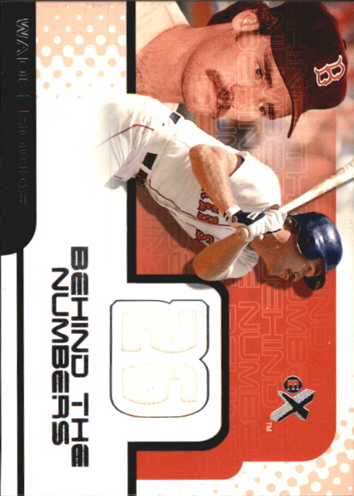 2001 E-X Behind the Numbers Game Jersey #BH2 Wade Boggs