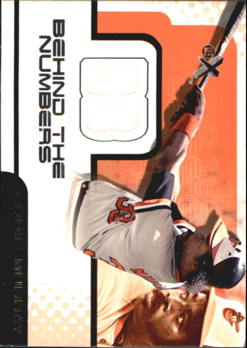 2001 E-X Behind the Numbers Game Jersey #BH12 Eddie Murray