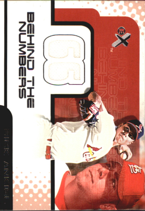 2001 E-X Behind the Numbers Game Jersey #BH22 Rick Ankiel