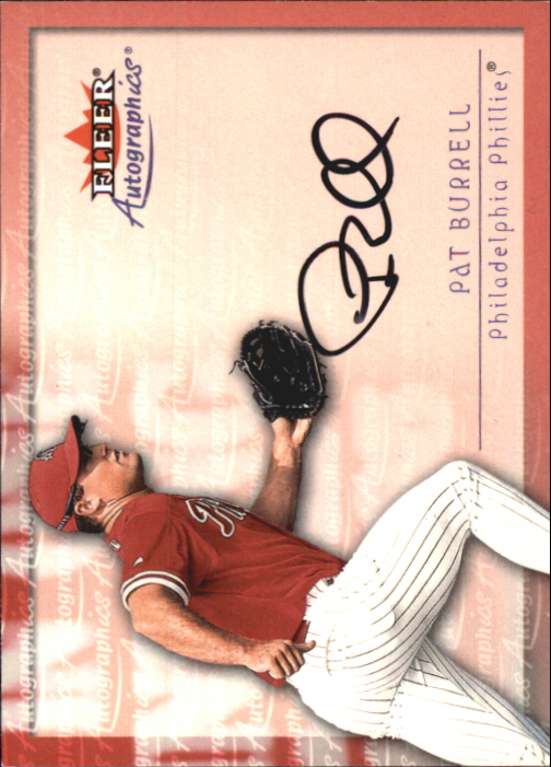 2001 Fleer Autographics #16 Pat Burrell