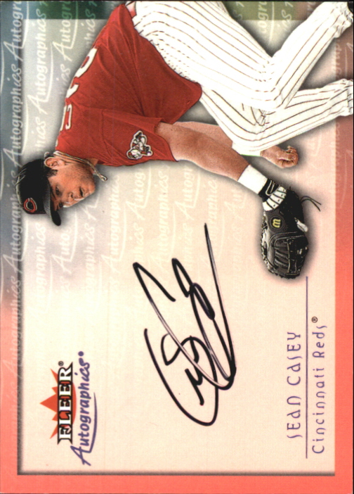 2001 Fleer Autographics #18 Sean Casey