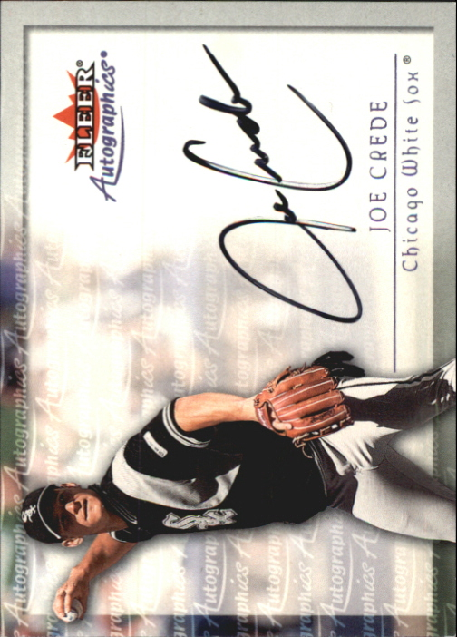 2001 Fleer Autographics #21 Joe Crede