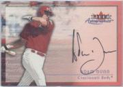 2001 Fleer Autographics #27 Adam Dunn