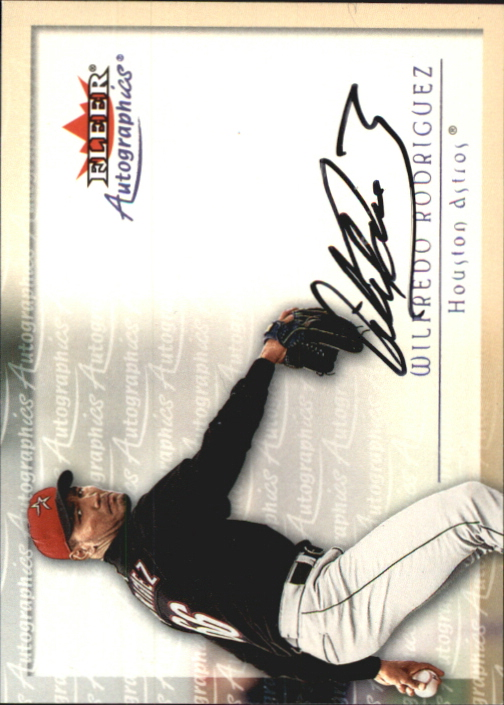 2001 Fleer Autographics #89 Alex Sanchez
