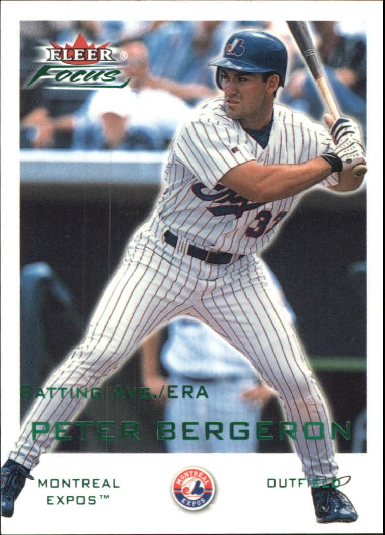 2001 Fleer Focus Green #79 Peter Bergeron/245