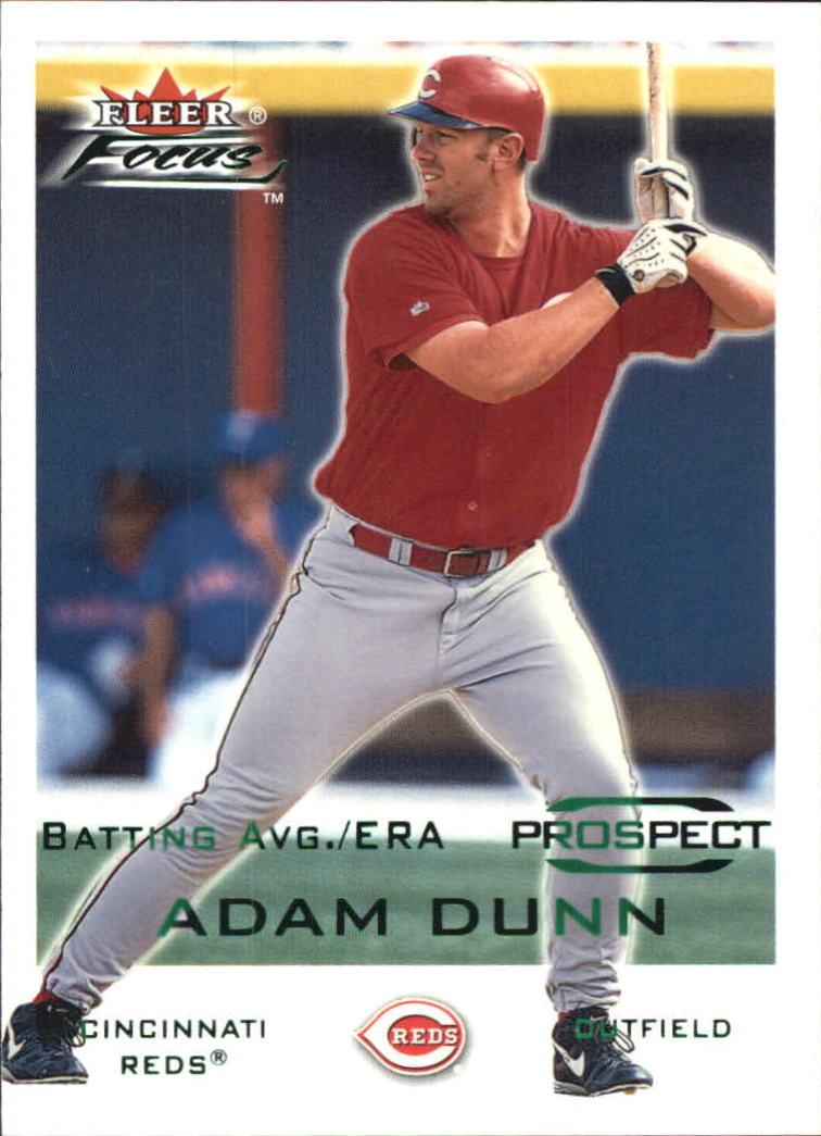 2001 Fleer Focus Green #216 Adam Dunn/281