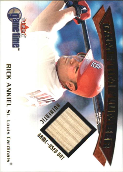 2001 Fleer Game Time Lumber #2 Rick Ankiel