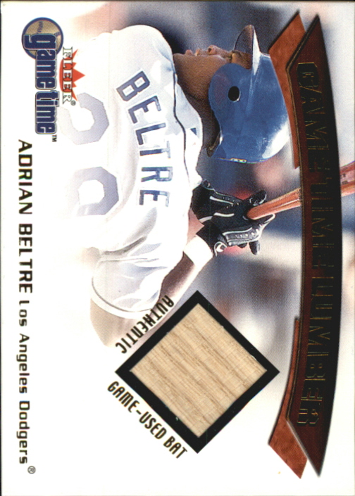 2001 Fleer Game Time Lumber #3 Adrian Beltre