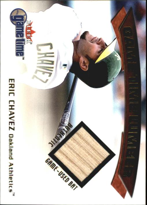 2001 Fleer Game Time Lumber #7 Eric Chavez