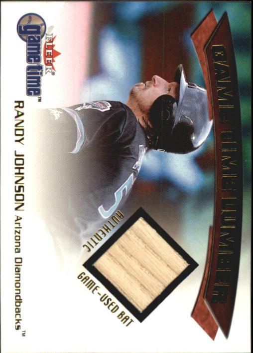 2001 Fleer Game Time Lumber #17 Randy Johnson
