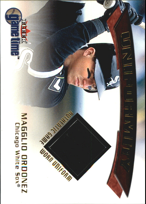 2001 Fleer Game Time Uniformity #14 Magglio Ordonez