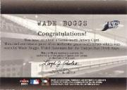2001 Fleer Genuine Final Cut #1 Wade Boggs back image