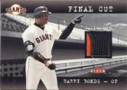 2001 Fleer Genuine Final Cut #2 Barry Bonds SP/330