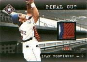2001 Fleer Genuine Final Cut #20 Ivan Rodriguez SP/120