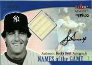 2001 Fleer Genuine Names Of The Game Autographs #5 Bucky Dent Bat