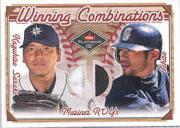 2001 Fleer Platinum Winning Combinations Memorabilia #15 Kazuhiro Sasaki/Ichiro Suzuki