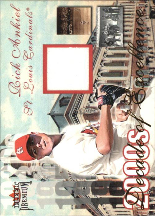 2001 Fleer Premium Decades of Excellence Memorabilia #1 Rick Ankiel Jsy