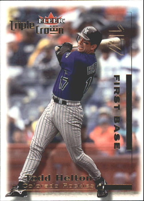 2001 Fleer Triple Crown #8 Todd Helton