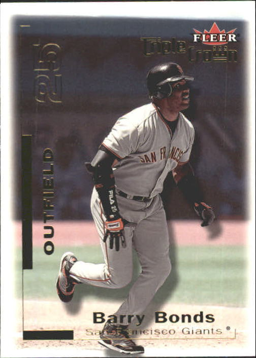 2001 Fleer Triple Crown #9 Barry Bonds