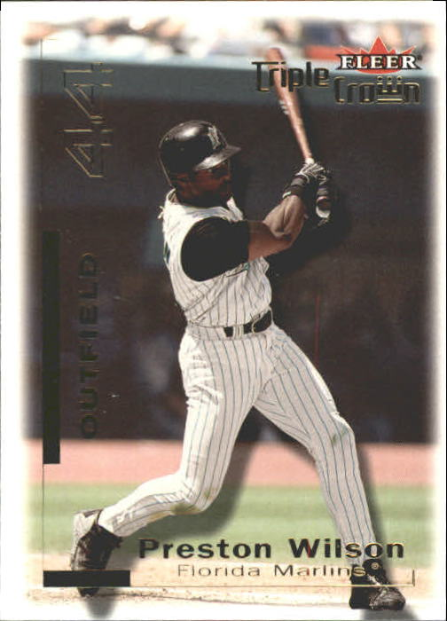 2001 Fleer Triple Crown #10 Preston Wilson