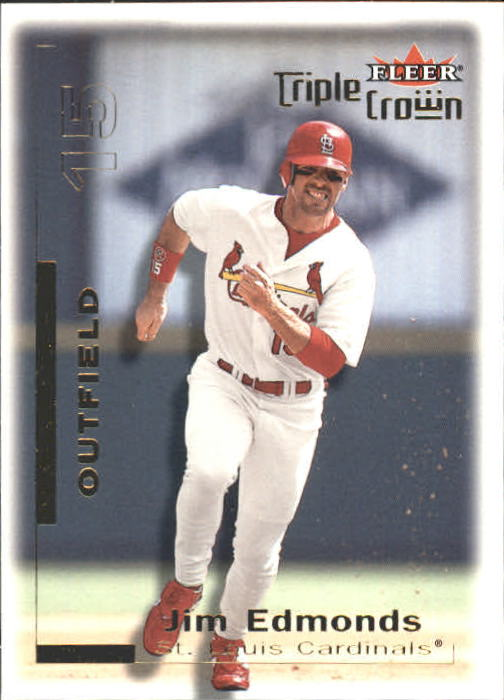 2001 Fleer Triple Crown #13 Jim Edmonds