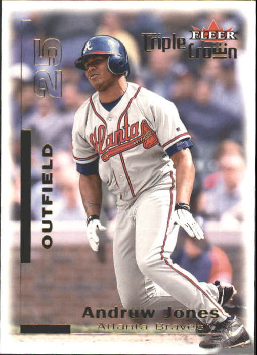 2001 Fleer Triple Crown #36 Andruw Jones