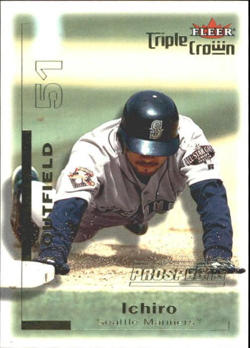 2001 Fleer Triple Crown #306 Ichiro Suzuki/2999 RC